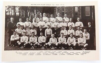 .Rare 1921-22 Australian Rugby League Team Real Photo Postcard. Unused Near Mint