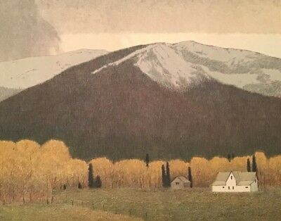 Russell Chatham Signed & #'d Fall in Bitterroot Valley Tonalist Lithograph Art