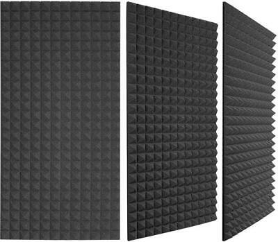 "Acoustic Foam (6 Pack Kit) - Pyramid 2"" 24"" x 48"" covers 48sq Ft - SoundProofing"