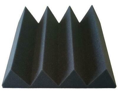 "Soundproofing Acoustical Foam Recording Studios 3"" X 12"" X 12"" Charcoal 48 Pack"