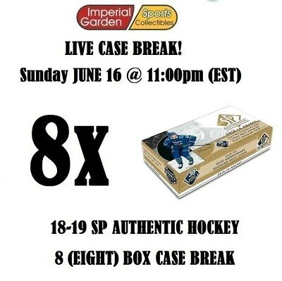 18-19 SP AUTHENTIC 8 (EIGHT) BOX CASE BREAK #1329 - Edmonton Oilers