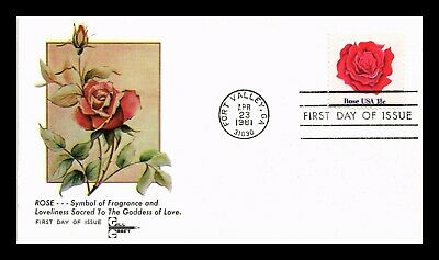 Dr Jim Stamps Us Rose Garden Flowers Gill Craft First Day Cover Fort Valley