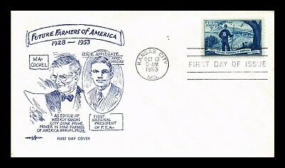 Dr Jim Stamps Us Future Farmers Of America Pent Arts First Day Cover Kansas City