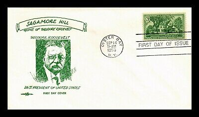 Dr Jim Stamps Us Sagamore Hill Theodore Roosevelt Pent Arts Fdc Cover