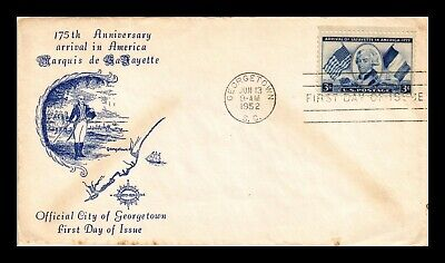 Dr Jim Stamps Us Marquis De Lafayette First Day Cover Georgetown