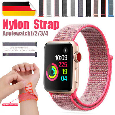 Soft Nylongewebte Ersatz Armband Uhrenarmband Apple Watch iWatch Serie 4/3/2/1