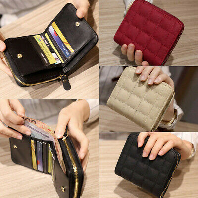 Fashion Women Bifold Wallet Leather Clutch Card Holder Purse Lady Small Handbag