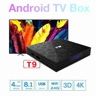 Smart TV BOX T9 PRO Android 8.1 2.4GB RAM 32GB 4K IPTV GPU 5 CORE QUAD WIFI IT