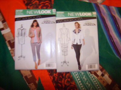 LOT of TWO(2)UNCUT Patterns Ladies TAILORED JACKETS New Look from Project Runway