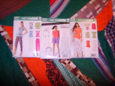 LOT of THREE UNCUT Patterns LADIES VARIETY CLOTHING SIMPLICITY New Look SZ 8-18