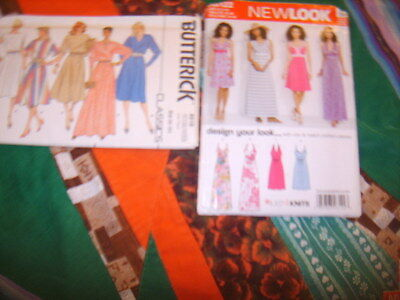 LOT of TWO UNCUT Patterns Variety Classic Dresses PROM HALTERS perfect for knits