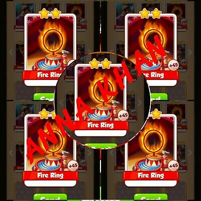 10x Fire Ring  :- Martian Lettuce Master Cards ( Fastest Delivery )