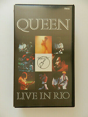 VHS Video Kassette Queen Live in Rio