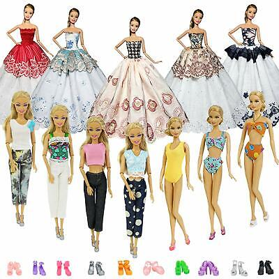 ZITA ELEMENT 10Sets Clothes Outfits +10 Pairs Shoes for 11.5'' Girl Accessories