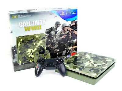 (R) Sony PS4 Konsole - SLIM 1TB - CALL OF DUTY - WWII - Green Camouflage Mangel