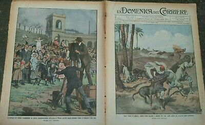 1912 Domenica Del Corriere: War Italian Turkish Dogs Used against Spies Arabic