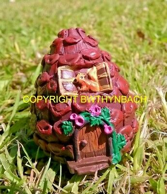 New Design Rubber Latex Mould Mold Micro Fairy Fairie Fircone Cottage House #2