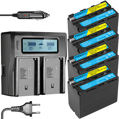 NP-F970 NP-F960 Battery or Dual Charger for Sony F570 NP-F550 NP-F770  NP-F750