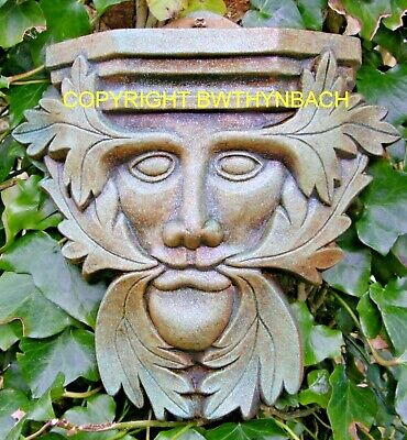New Rubber Latex Moulds Mould Mold Pagan Greenman Green Man Sconce Wall Plaque