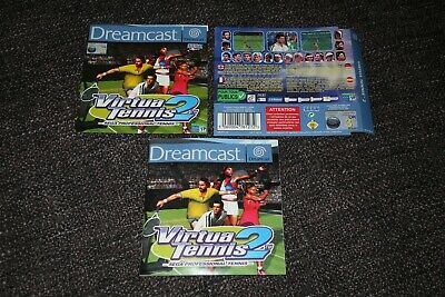 Virtua Tennis 2 - Sega Dreamcast Front & Back Inserts Covers With Manual