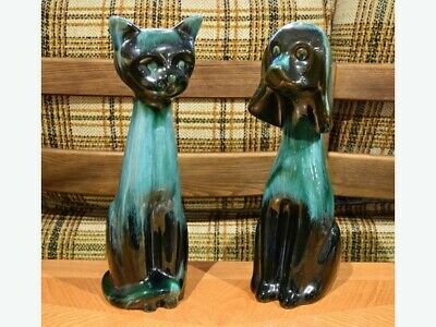 Blue Mountain Pottery Cat and Dog Pair!