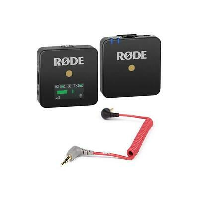 Rode Wireless GO Compact Microphone System Transmitter and Receiver W/Rode Cable