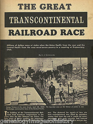 Great Transcontinental Railroad Race + Genealogy