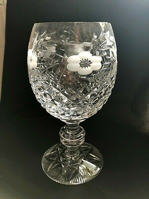 "Heavy Crystal Cut Glass Lead Crystal Goblet Dish Bowl Vase - 9.5"" Tall"