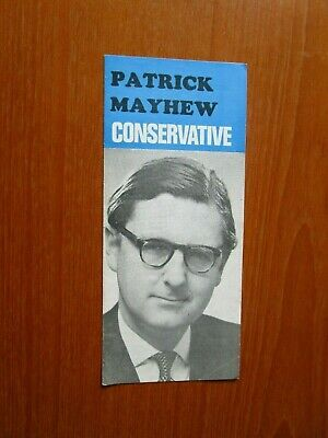1969 Patrick Mayhew Conservative Party Mp Election Material