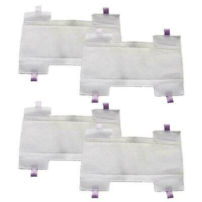 4-Pack Amyehouse Micro-Fiber Replacement Pads for Shark 4pcs HV300 Series
