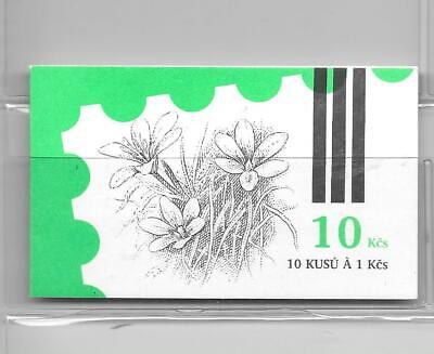 Czechoslovakia - 1991 - folded booklet (10 x 1k Nature stamps) - unmounted mint