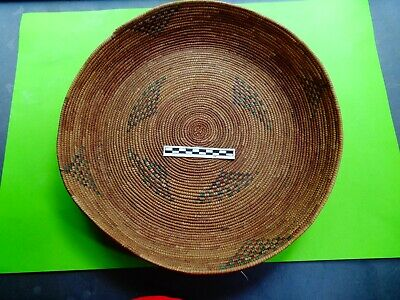Apache Sweetgrass Winnowing Basket ;1880s-1890s from a private collection - LOOK