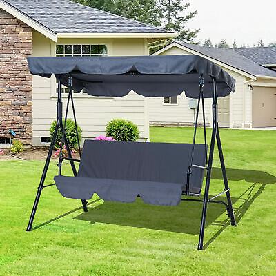 Garden Hammock Swing Chair Backyard 3 Seater Adjustable Canopy Patio Outdoor New