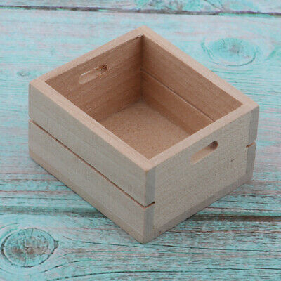 1/12 Dollhouse Miniature Wooden Storage Box Kitchen Furniture Accessory