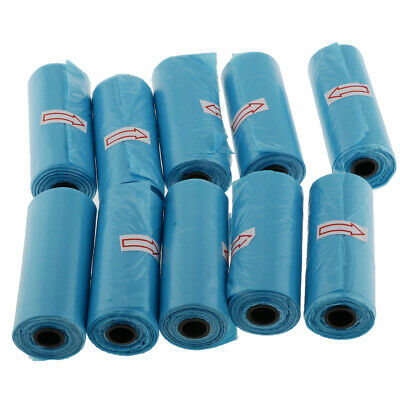10 Rolls Blue Portable Baby Diaper Nappy Discarded Dispenser Bag Garbage Bag