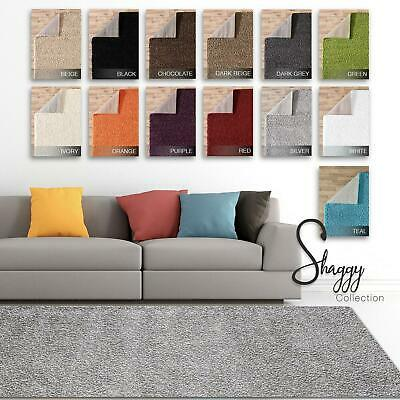 Large Coloured MODERN AREA CARPET Soft Fluffy Thick RUNNER RUGS Shaggy Floor Rug