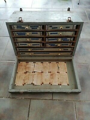 Vintage Engineers Wooden Cased Tool Chest