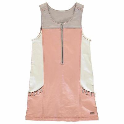 Firetrap Den Pinafore Dress Youngster Girls Clothing Set Zip Stretch Colour
