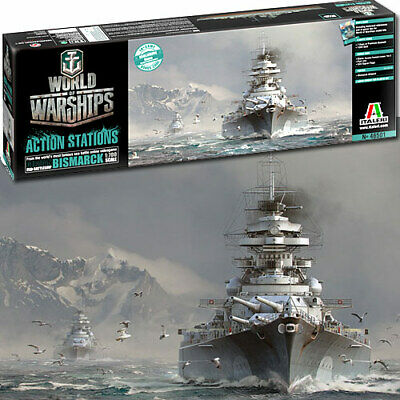 ITALERI Bismarck World of Warships Series 46501 1:700 Ship Model Kit