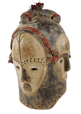 Fang Helmet Mask Four Faces Gabon African Art Collection SALE WAS $1200.00