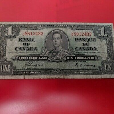 1937 Bank Of Canada  One Dollar Banknote