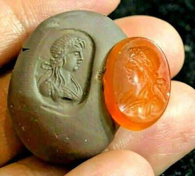 Ancient Carnelian Intaglio Pretty Princess Flower Hair Ornament Grim Tale bead