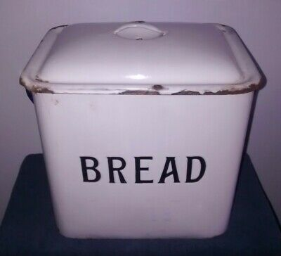 Vintage Enamel Bread Bin / Box * Farmhouse / Country Cottage / Shabby Chic L@@K
