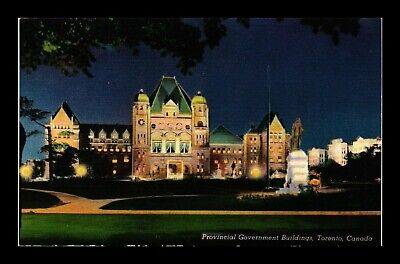 Dr Jim Stamps Provincial Government Buildings Toronto Night View Postcard