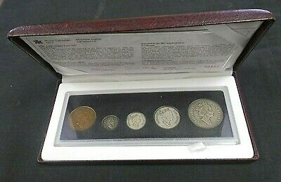 90TH Sterling silver 1908-1998 COMMEMORATIVE ANTIQUE FINISH PROOF SET