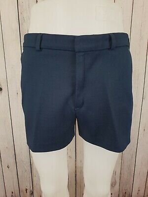 "Vintage 1980s Blue Rodeo Polyester Short Tennis Shorts Festival 118 *34""* JL08"