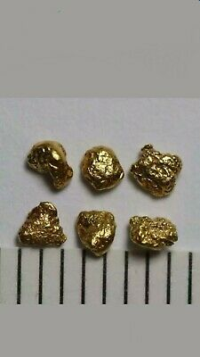 6 MANIFIQUE PÉPITE OR NATUREL , 6 GOLD NUGGETS set n°2