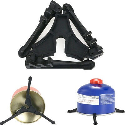 Folding Outdoor Camping Hiking Cooking Gas Tank Bracket Canister Stand Tripod