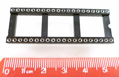 Turned Pin IC Socket 40 Way Open Frame 0.6in. Pitch 1 Piece OLA2-10