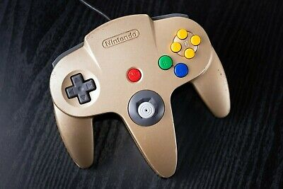 Nintendo 64 Gold Controller Authentic, Used, and in Good Working Condition